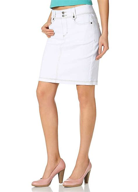arizona white stretch denim pencil skirt swimwear365
