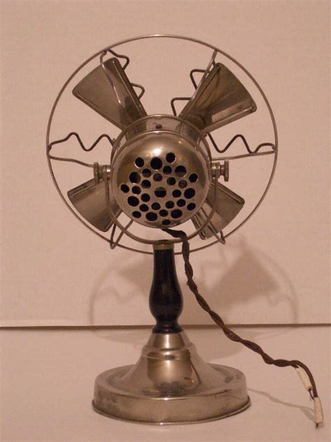 who invented ceiling fan my small nickel plated electric desk fan rubell s antiques