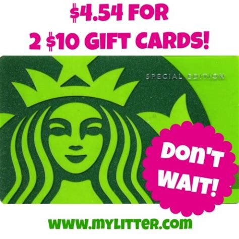 Where Can I Buy A Starbucks Gift Card - 20 starbucks gift card for only 4 54 mylitter one deal at a time