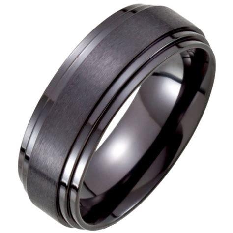 b73778ti black titanium classic wedding band