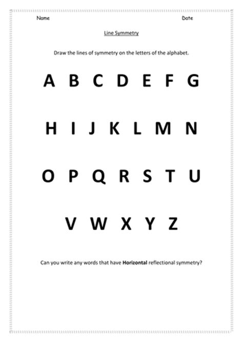 alphabet worksheets ks1 ks1 alphabet symmetry worksheet by hroberts999