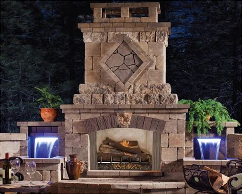 Firebox For Outdoor Fireplace by Fmi Products Outdoor Fireplace Venetian Emberwest