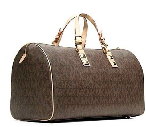 Purse Deal Gryson Mini Duffle Bag by Michael Kors Grayson Duffle Bag Brown Mk Signature