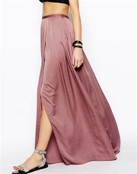 image 4 of asos soft split maxi skirt