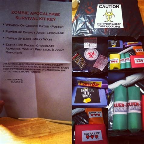 diy zombie survival kit gift for those doomsday preppers