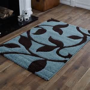 Duck Egg Blue And Brown Rug quality small to large duck egg blue chocolate brown