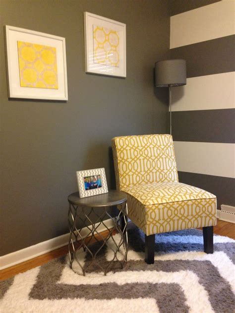 home office decor yellow grey white office home
