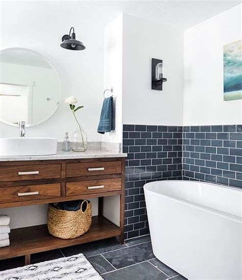 navy and white bathroom ideas 33 chic subway tiles ideas for bathrooms digsdigs