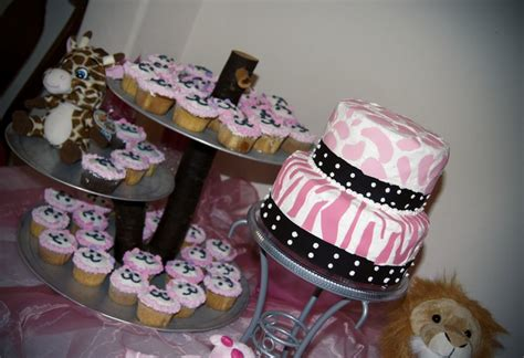 Pink Safari Baby Shower Theme by