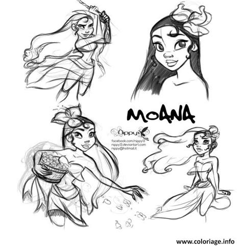libro colour my sketchbook characters grayscale coloriage vaiana disney fan art dessin