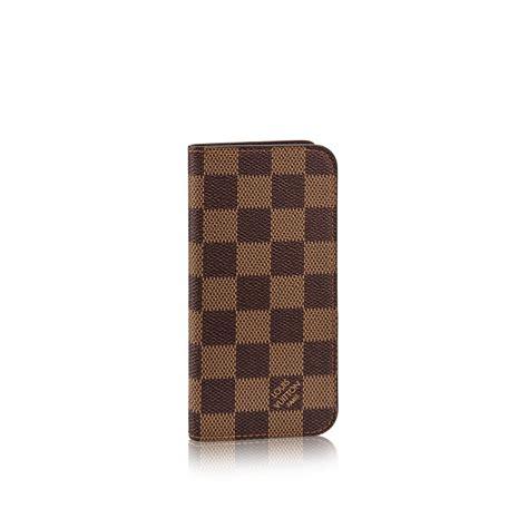 Iphone 7 8 Lv Monogram Muda iphone 7 8 folio damier ebene small leather goods