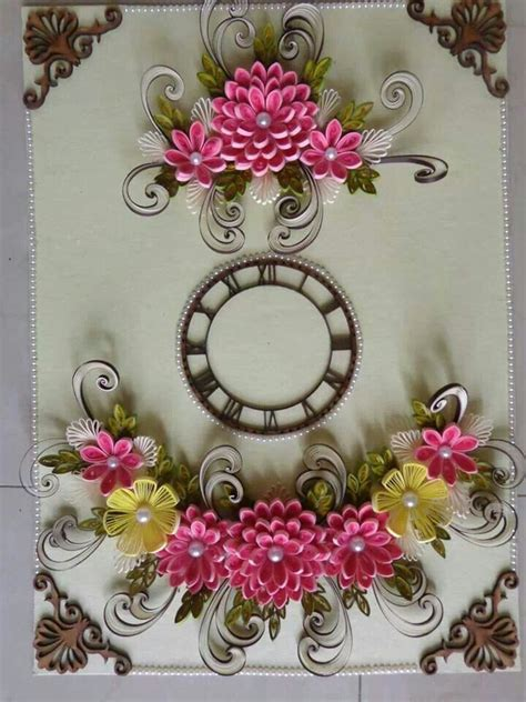 quilling clock tutorial clock by zankhana barai her sis beautiful quilling
