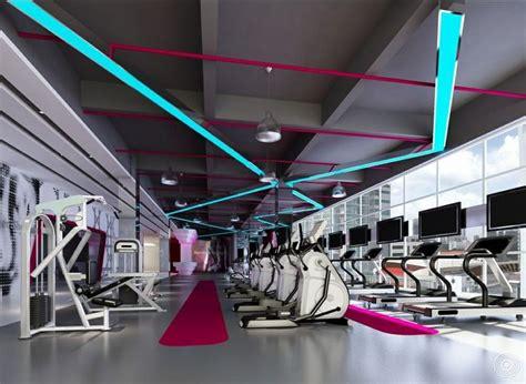 design interior gym verlichting fitnessruimte moodboard voor