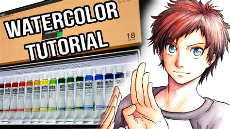 tutorial watercolor manga watercolor tutorial how to do a manga style portrait