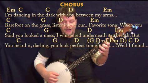 ed sheeran perfect chords no capo perfect ed sheeran banjo cover lesson with chords lyrics