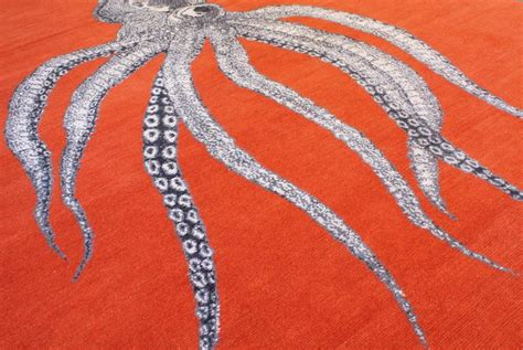octopus area rug one of a modern octopus wool area rug at 1stdibs