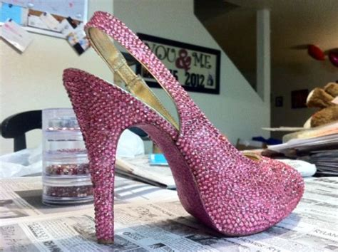 rhinestone shoes diy my diy swarovski rhinestone wedding shoes weddingbee