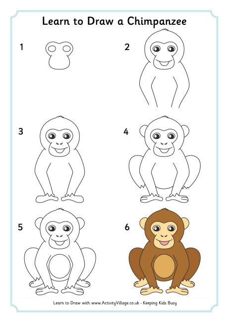 how to do kilo on doodle fit lean to draw a chimpanzee