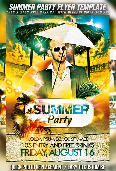 free summer c flyer template 30 free psd flyer templates