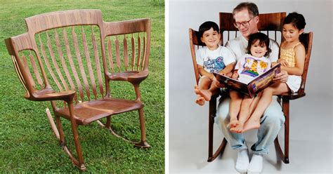 Chair Stories by Builds Rocking Chair So He Could Read To His 3
