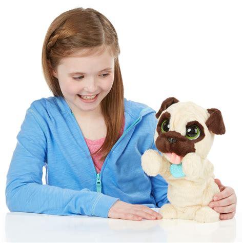 my pug sounds like he has hairball furreal friends jj my jumpin pug pet plush toys