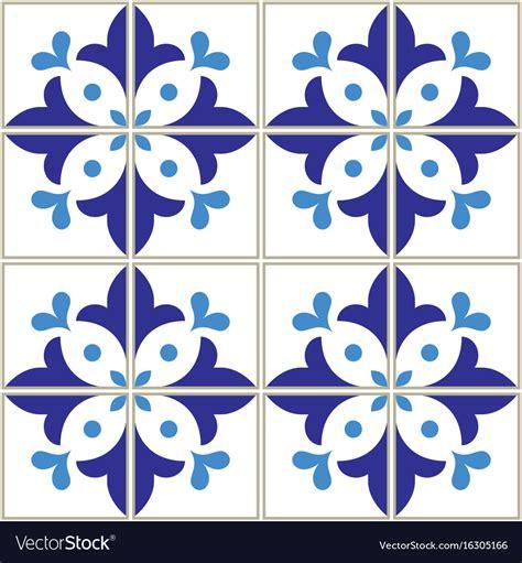 azulejo pattern azulejos tiles pattern portuguese blue design vector image