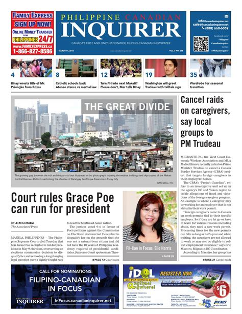 society section newspaper philippine canadian inquirer 208 by philippine canadian