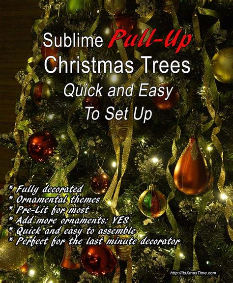 easy up christmas trees pull up trees for and easy setting it s time