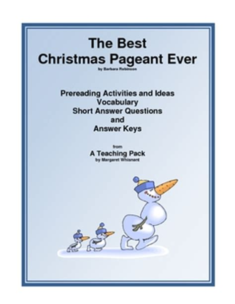 coloring pages for the best christmas pageant ever best christmas pageant ever mini teaching guide by