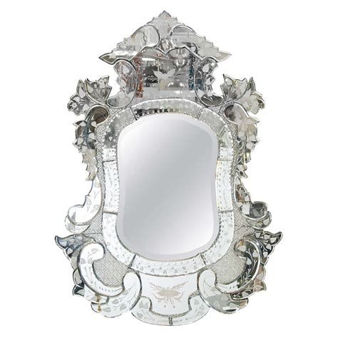 Venetian Home Decor vintage venetian ornately carved etched wall mirror at