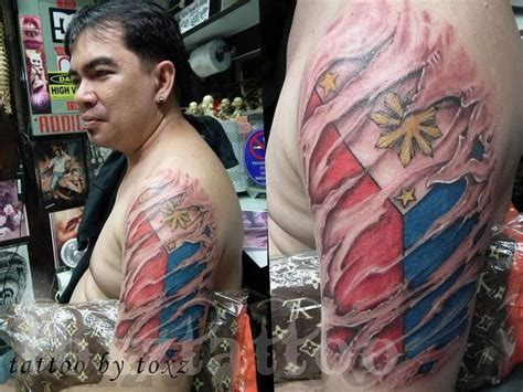watercolor tattoos philippines quot toxz mech philippine flag quot