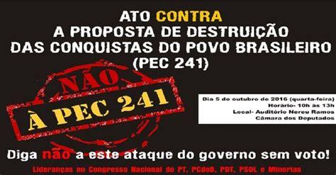movimentos v 227 o 224 s ruas contra a pec 241 acordo coletivo