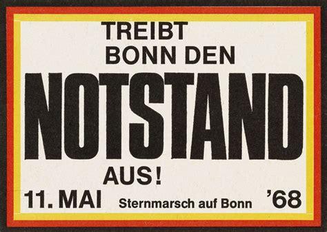 Aufkleber Gegen Cdu by Lemo Objekt Aufkleber Quot Treibt Bonn Den Notstand Aus Quot
