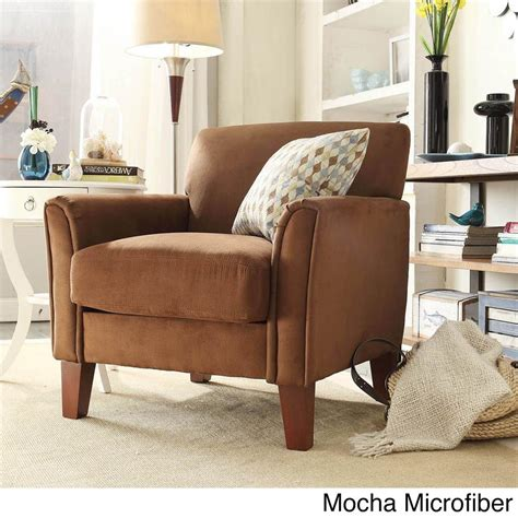 Comfy Upholstered Chairs Modern Living Contemporary Comfy Upholstered Arm Chair