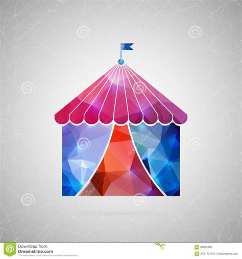 Origami Circus Tent - abstract creative concept icon of circus tent for web and