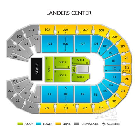 cannon center seating chart landers center seating chart landers center arena