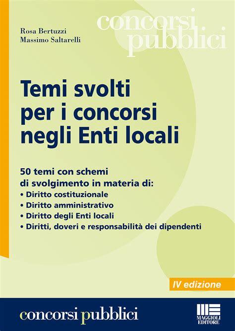 controlli interni enti locali temi svolti per i concorsi negli enti locali bertuzzi