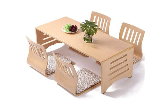Japanese Style Floor Dining Table by Aliexpress Buy 5pcs Set Modern Japanese Style Dining
