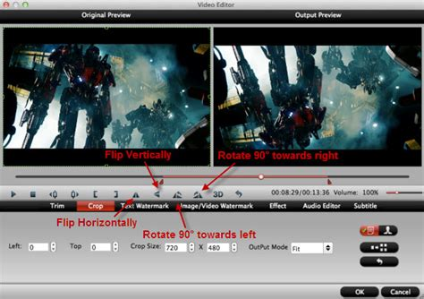 click on the image to rotate photos imovie 11 resize crop and rotate video clips
