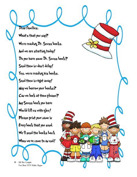 Parent Letter Border Miss Kindergarten Lessons From The Schoolhouse Dr Seuss Parent Letter