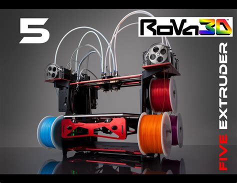 3d Printing Puts The Postman Out Of A by Rova3d 5 Nozzle Fdm 3d Printer