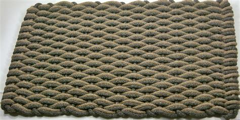 Woven Mat by With Brown Insert Rope Woven Mat