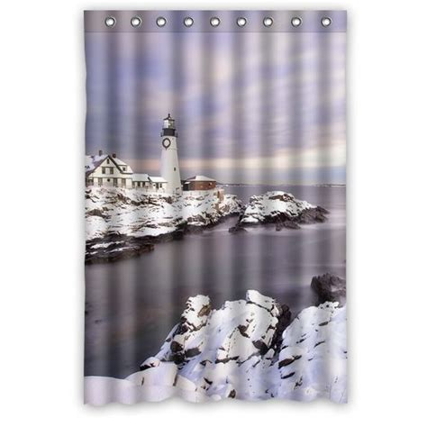 light house shower curtain lighthouse shower curtains shower curtains outlet