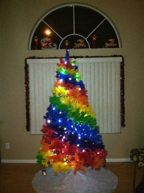 rainbow christmas tree with lights 2013 christmas decor