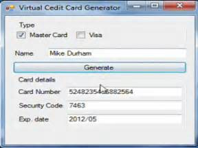 Credit Card Cvv2 Generator