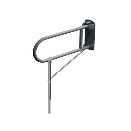 swing up grab bars swing up grab bar with support leg american specialties