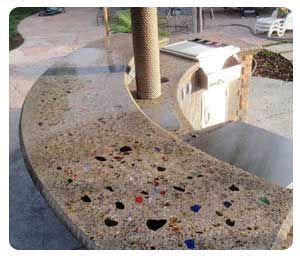 Glass Chips For Concrete Countertops by Terrazzo How To Use Glass In Concrete Mexico Home