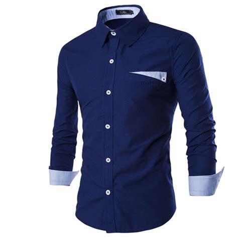 Black Fashion Shirt 2016 new fashion casual shirt sleeve elastic slim