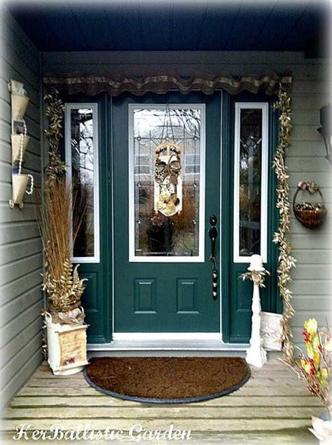 a christmas door decoration for holiday spirit