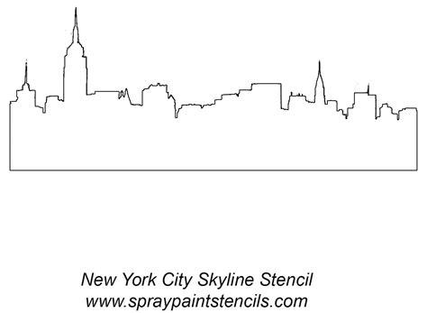 Skyline Outline by Simple New York Skyline Outline Ink Me